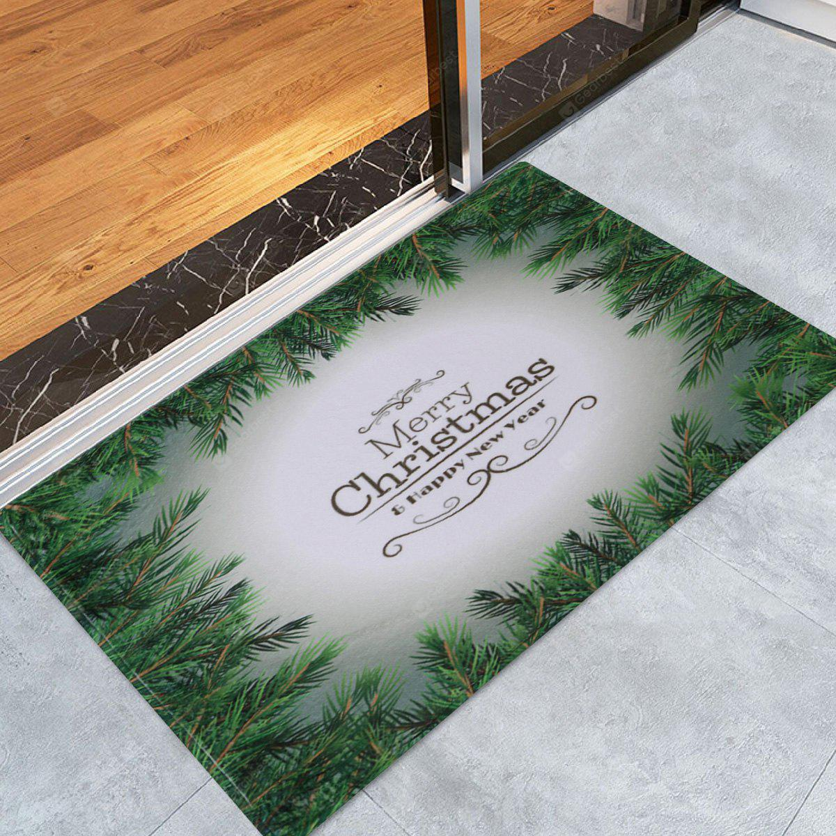 Merry Christmas Pattern Water Absorption Area Rug