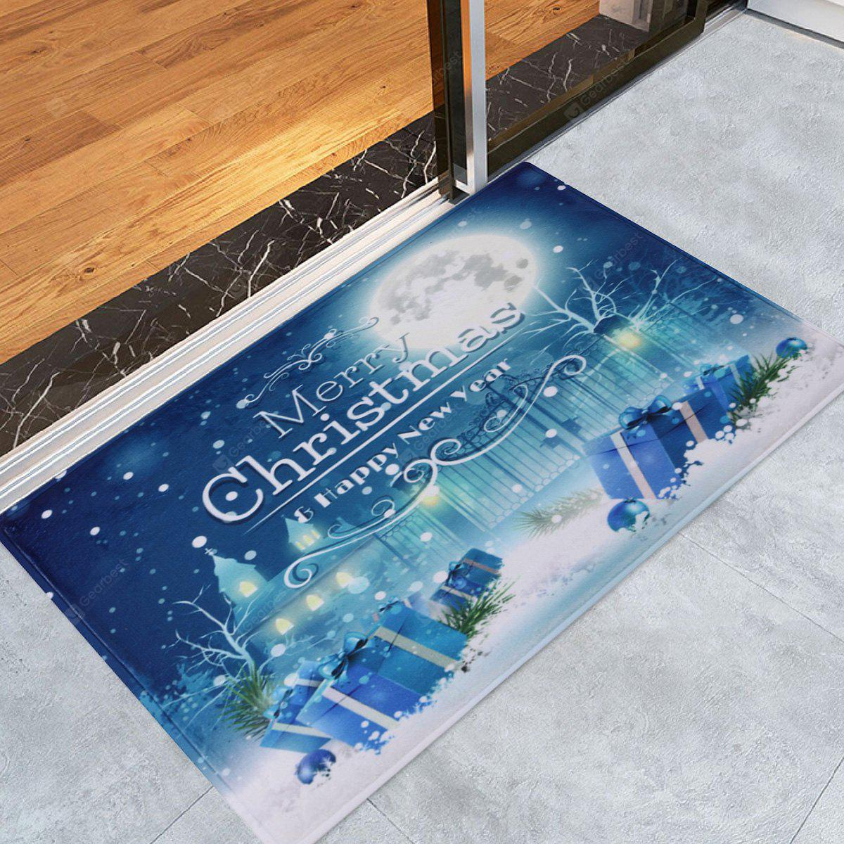 Christmas Night Pattern Water Absorption Area Rug