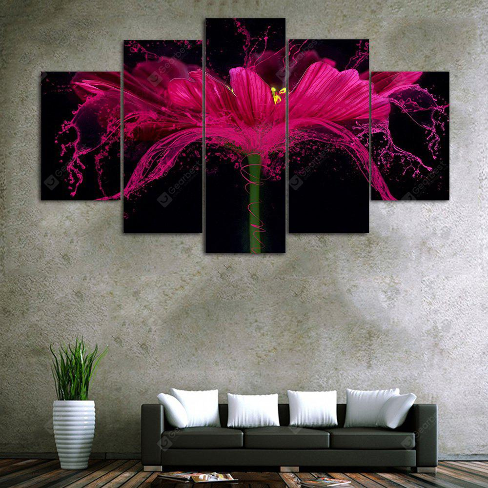 Flower Splash Print Unframed Canvas Split Paintings