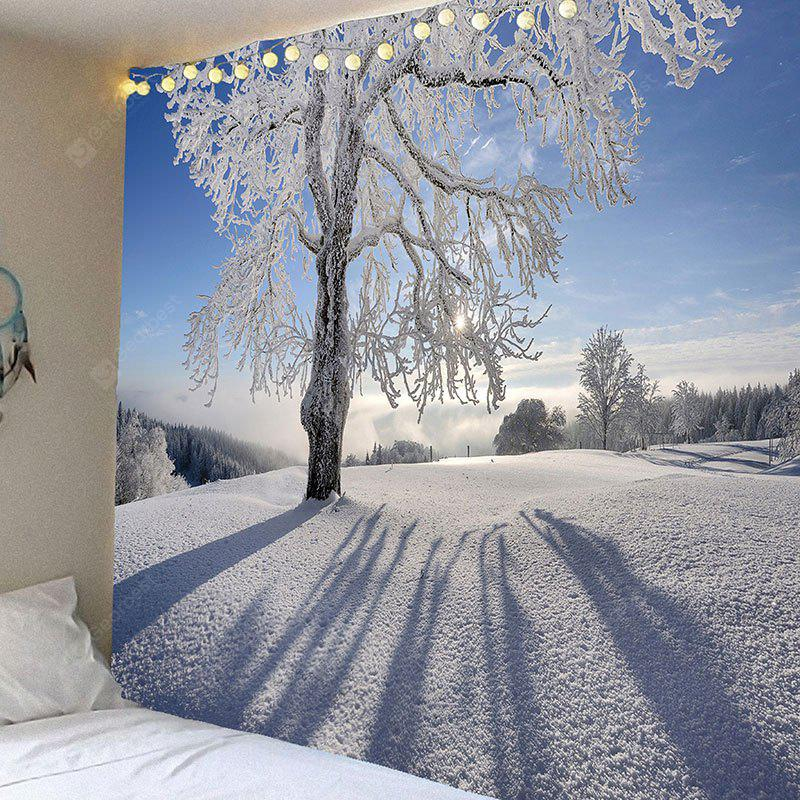 Snowfield Trees Pattern Waterproof Wall Hanging Tapestry