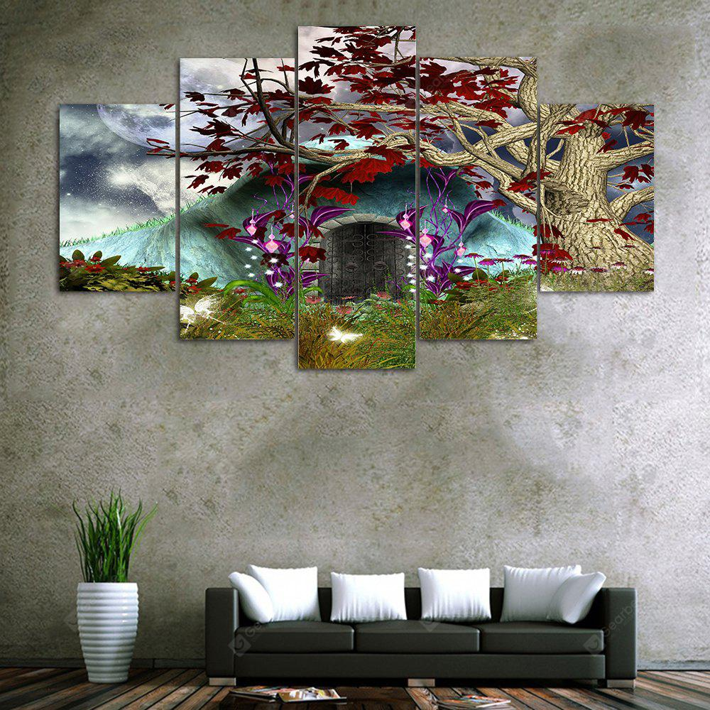 Moon Tree Cave Print Unframed Canvas Split Paintings