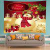 Wall Hanging Art Christmas Snowman Gifts Print Tapestry - RED