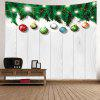 Wall Hanging Art Christmas Baubles Wood Print Tapestry - WHITE