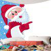 Waterproof Santa Claus Printed Wall Decor Tapestry - COLORFUL
