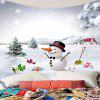 Snows and Christmas Snowman Pattern Waterproof Wall Hanging Tapestry - COLORFUL