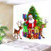 Santa Claus and Christmas Gifts Waterproof Wall Hanging Tapestry - COLORFUL