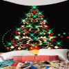 Colored Christmas Tree Pattern Waterproof Wall Hanging Tapestry - COLORFUL