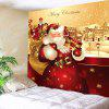 Father Christmas Printed Waterproof Wall Hanging Tapestry - COLORFUL