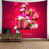 Christmas Present Pattern Wall Hanging Tapestry - RED