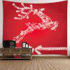 Christmas Reindeer Printed Wall Hanging Tapestry - RED