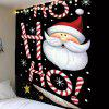 Santa Claus Head Pattern Wall Hanging Tapestry - COLORFUL