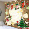 Christmas Sock Printed Wall Hanging Tapestry - COLORFUL