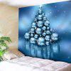 Christmas Ball Print Wall Decor Tapestry - PANTONE TURQUOISE