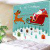 Christmas Carriage Patterned Wall Decor Hanging Tapestry - COLORFUL