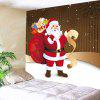 Wall Hanging Santa Claus With Gifts Patterned Tapestry - COLORFUL