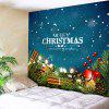 Wall Hanging Merry Christmas Graphic Tapestry - BLUE