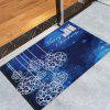 Merry Christmas Graphic Skidproof Bath Rug - BLUE