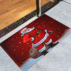 Santa Claus Christmas Graphic Antiskid Area Rug - RED