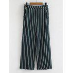 Stripes Casual High Waisted Wide Leg Pants - STRIPE