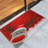 Christmas Deer Pattern Water Absorption Area Rug - RED