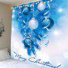 Balloons Printed Christmas Wall Hanging Tapestry - BLUE AND WHITE