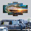 Sunset Wave Print Unframed Canvas Split Painting - COLORMIX
