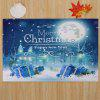 Christmas Night Pattern Water Absorption Area Rug - BLUE