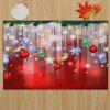 Christmas Baubles Stars Pattern Water Absorption Area Rug - COLORMIX