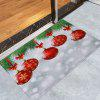 Christmas Baubles Pattern Water Absorption Area Rug - COLORMIX