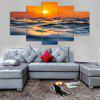 Sunset Ocean Print Unframed Canvas Split Paintings - COLORMIX