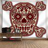 Skull Pattern Wall Art Tapestry - WHITE