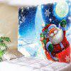 Lighting Stars Santa Claus Pattern Waterproof Wall Hanging Tapestry - COLORFUL