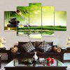 Bamboo Stream Print Unframed Canvas Split Paintings - COLORMIX