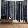 Wall Art Snowfield Forest Patterned Waterproof Tapestry - GRAY