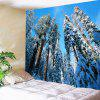 Hanging Snow Trees Waterproof Wall Decor Tapestry - WHITE