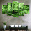 Forest Leaf Print Unframed Canvas Split Paintings - GREEN