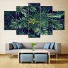 Tropical Leaves Print Unframed Canvas Split Paintings - GREEN