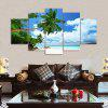 Beach Palm Tree Print Unframed Canvas Split Painting - COLORMIX