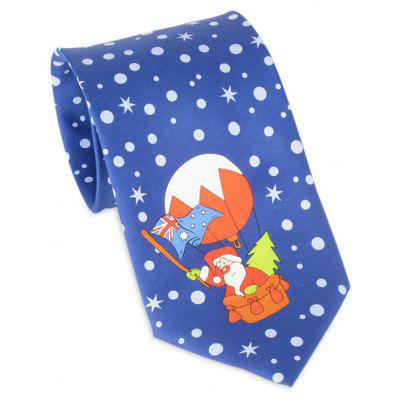 Santa Claus Flying by Balloon Tie