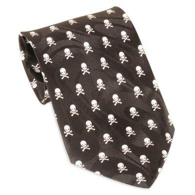 Skull Pattern Halloween Themed Necktie