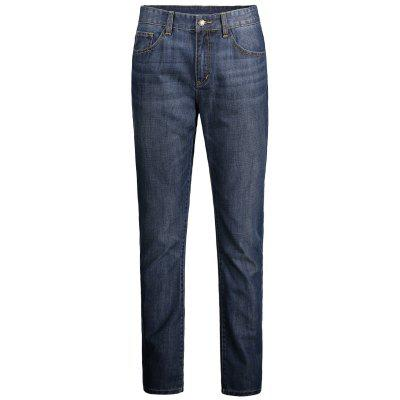 Buy BLUE Faded Regular Fit Jeans for $29.64 in GearBest store