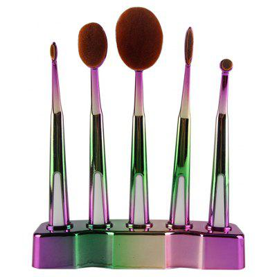 5 Pcs Toothbrush Shape Brushes Suit with Holder