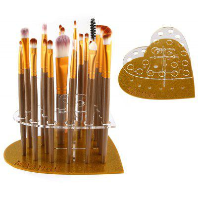 Makeup Brush Heart Shape Holder