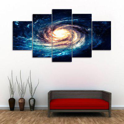 Galaxy Vortex Print Unframed Canvas Split Paintings