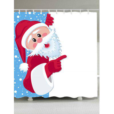 Waterproof Santa Claus Printed Shower Curtain