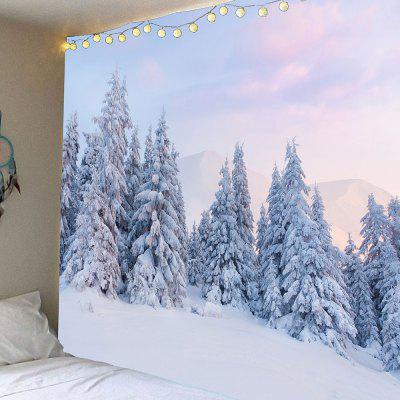 Snow and Cedrus Pattern Waterproof Wall Hanging Tapestry
