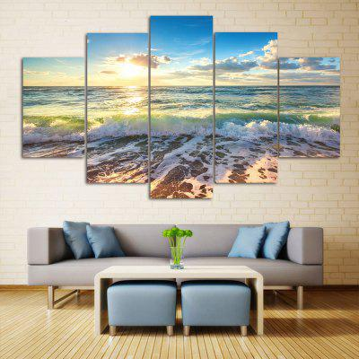 Sea Beach Scenery Print Wall Art Split Canvas Paintings