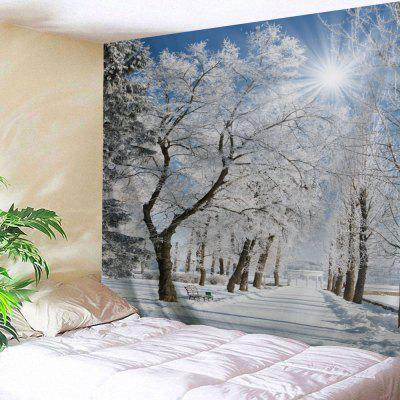 Wall Hanging Art Snow Pathway Print Tapestry