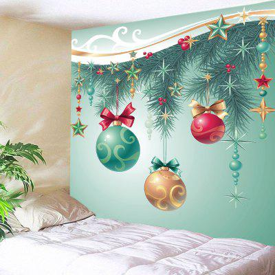 Wall Hanging Art Christmas Baubles Star Print Tapestry