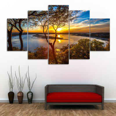 Sunrise River Print Unframed Canvas Split Paintings